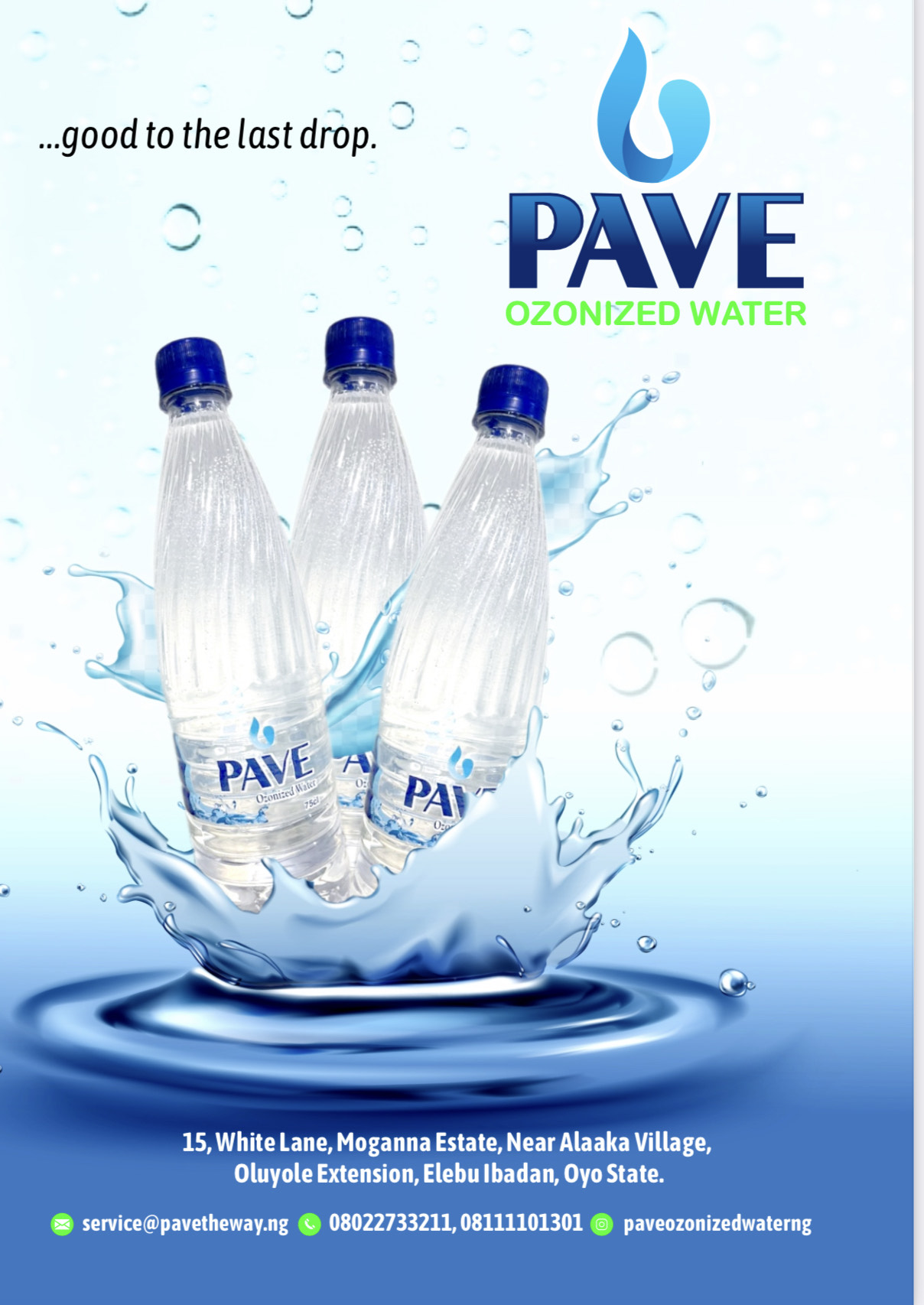 Pave water Revolutionizing Water Bottling Company in Ibadan